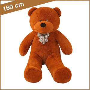 Bruine knuffelbeer 160 cm met T-shirt