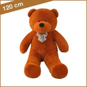 Bruine knuffelbeer 120 cm