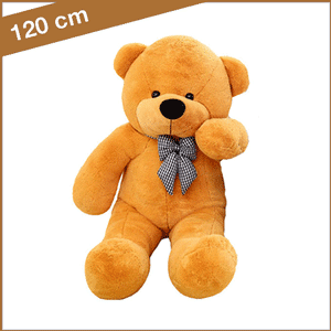 Oranje knuffelbeer 120 cm