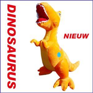 Dinosaurus oranje en blauw