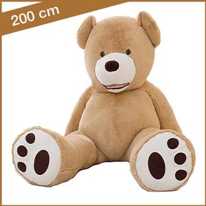 Grote lichtbruine knuffelbeer van 200 cm