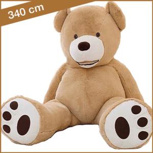 Hele grote knuffelbeer van 340 cm lichtbruin