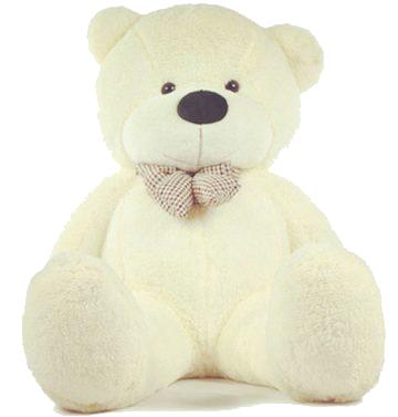 Grote witte knuffelbeer