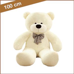 Witte knuffelbeer van 100 cm