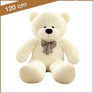Witte knuffelbeer van 120 cm