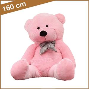 Grote rose knuffelbeer 160 cm met T-shirt