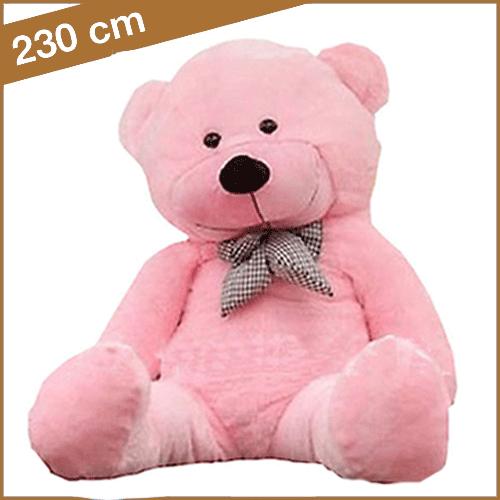 Grote roze knuffelbeer van 230 cm