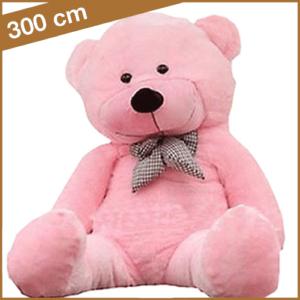 Rose knuffelbeer van 300 cm met T-shirt