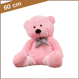 Rose knuffelbeer 60 cm