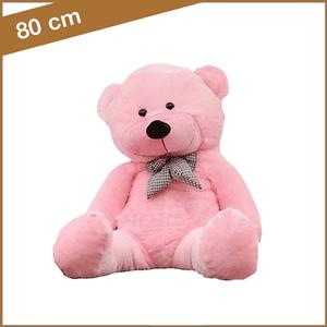 Roze knuffelbeer 80 cm